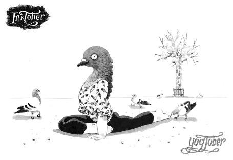 inktober pigeon