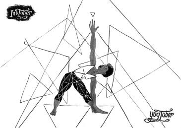 inktober triangle pose