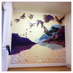 mur vol de canards